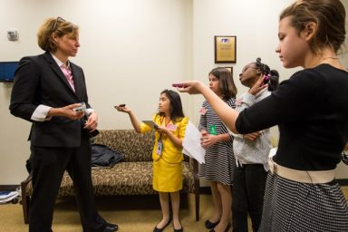young-reporters-using-recording-devices